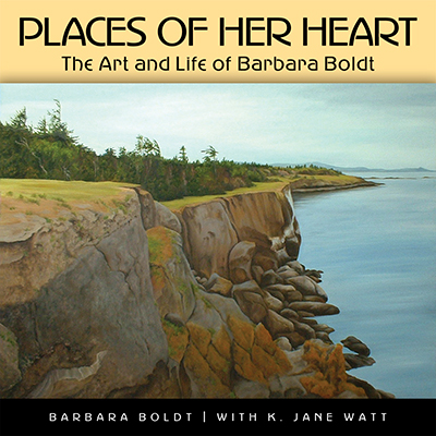 Barbara Boldt: Places Of Her Heart: Book Cover, Original Art